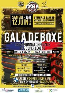 CSNA – Gala de Boxe Pro – Championnat de France des super légers